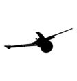 Artillery gun silhouette Howitzer icon