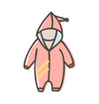 baby overall romper with hood for a newborn vector image