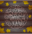 back to school lettering with yellow maple leaf on vector image