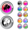 Balloons multicolor round button vector image vector image