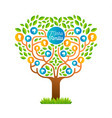 big family tree template in portuguese language vector image vector image