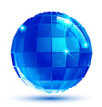 Bright facet dimensional sparkle eps10 spherical vector image vector image
