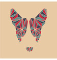 Bull terrier head Polygon dog face vector image vector image