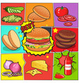 burger comic book page vector image vector image