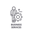 business services line icon outline sign linear vector image vector image