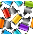 camera film roll cartridge background pattern vector image vector image