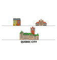 canada quebec city flat landmarks vector image vector image