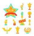 cartoon music award statuette entertainment winner vector image vector image
