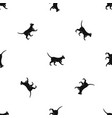 cat pattern seamless black vector image vector image
