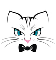 Cat T-shirt Print vector image vector image