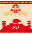 chinese zodiac year pig - frame vector image