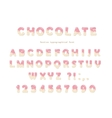 Chocolate font Cute letters and numbers can be vector image vector image