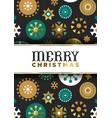 christmas geometric folk ornament gold luxury card vector image
