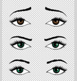 collection eyes hand drawn female vector image vector image