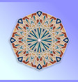 colorful arabesque geometric design vector image vector image