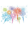 colorful fireworks isolated on white background vector image vector image