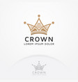 crown logo design vector image vector image