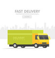 delivery car and set of cardboard boxes delivery vector image vector image