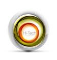 Digital techno sphere web banner button or icon