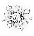 discount 30 percent pop art retro style vector image vector image