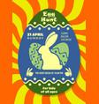 easter egg hunt poster or invitation design vector image vector image