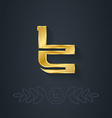 elegant gold font Letter T Template for company vector image