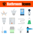 Flat design bathroom icon set vector image vector image