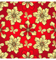 Floral vivid red seamless pattern vector image vector image
