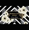 gerber daisy flowers postcard luxury vector image vector image