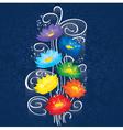 Glowing Chakras lotuses vector image vector image