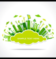 go green or save earth with cloud shape sticker vector image vector image