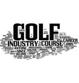 golf course jobs provide great opportunities text vector image vector image