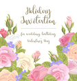 greeting card flowers congratulations vector image