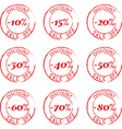 Grunge Commercial Stamps Set vector image vector image
