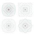 Guilloche rosette on a white background vector image vector image