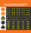 halloween pumpkin simple flat icons set vector image