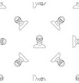 hip hop man pattern seamless vector image