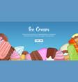 ice cream choice banner horizontal cartoon style vector image vector image