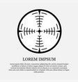 icon crosshair sight hunt vector image vector image