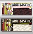 invitation for wine tasting vector image vector image