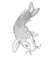 Koi Fish2 vector image vector image
