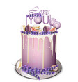 lavender cake with fig fruits on top vector image vector image