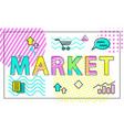 market poster and headline vector image