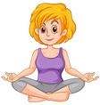Middle aged woman doing yoga vector image vector image