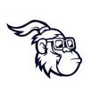 monkey with glasses mascot logo design long vector image vector image