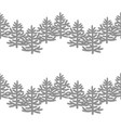 monochrome seamless pattern with christmas trees vector image