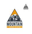 mountain adventure expedition logo vector image vector image