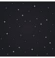 night view stars vector image