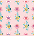 pastel folk floral motifs seamless pattern vector image vector image
