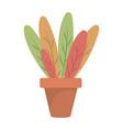 plant pot icon vector image vector image